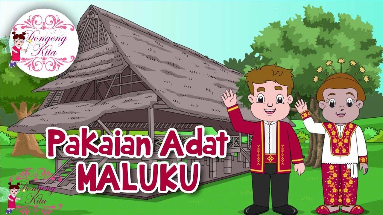 Pakaian Adat Kalimantan Barat Kartun