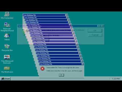 Windows 95 Crazy Error!