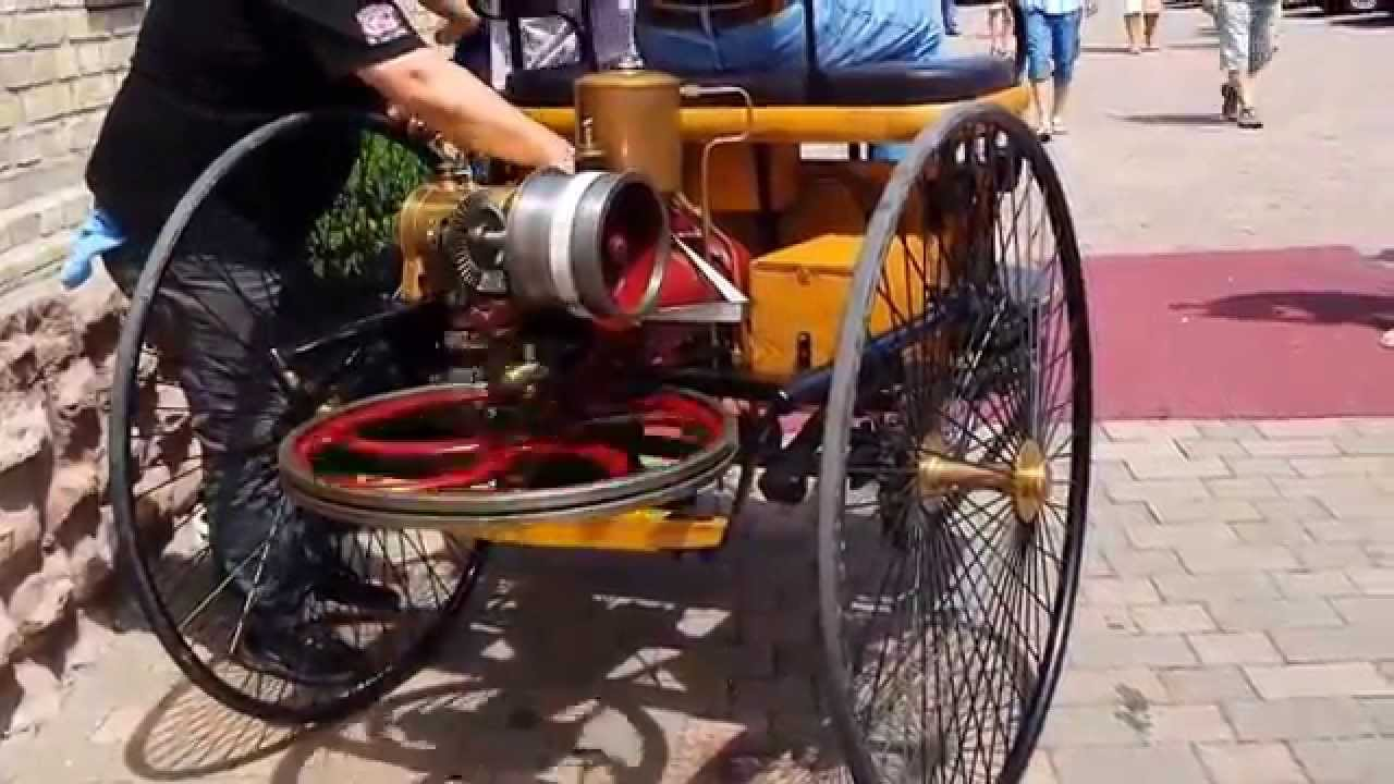 First car in the world: Benz Patent-Motorwagen, Startup & ride ...