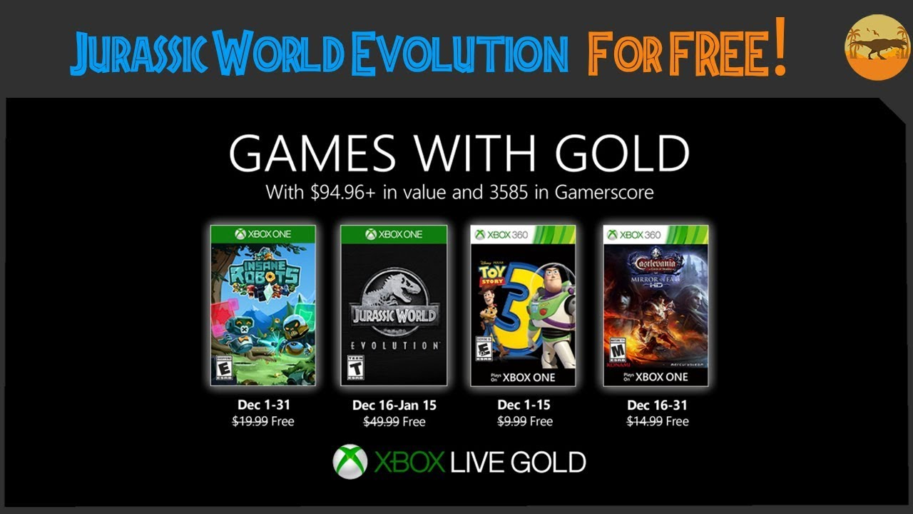 jurassic world evolution is free on xbox one with games