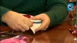 Видео урок по технике вышивки атласными лентами