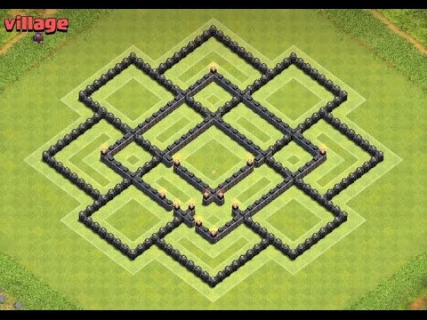 Clash Of Clans- Village Hdv9 (mise à jour) + défense