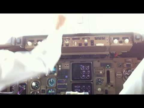 Orient Thai Airlines Boeing 767-300 inside cockpit takeoff at DMK