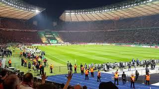 FC Bayern München - SG Eintracht Frankfurt Tor 1:3 und Platzsturm DFB Pokalfinale