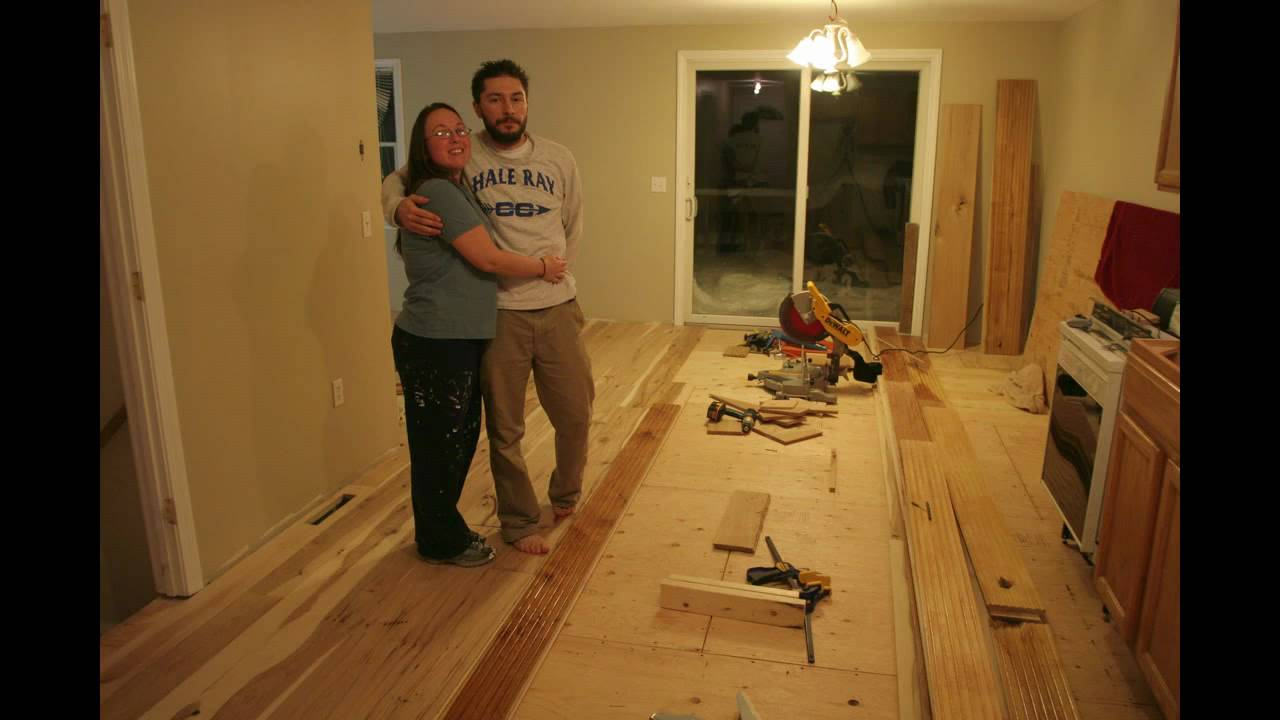 Installing Wide Plank Hickory Floors Youtube