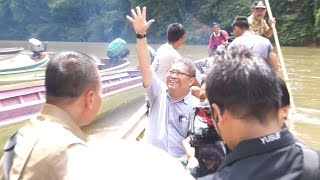 Peresmian BTS Perbatasan di Desa Pala Pasang, Entikong, Sanggau, Kalimantan Barat