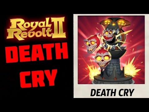 ROYAL REVOLT 2 - DEATH CRY GAMEPLAY (battlecry skull tower)