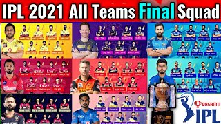 IPL 2021 All Teams Full Squad | All Teams Probable Squad IPL 2021 | IPL 2021 | IPL 2021