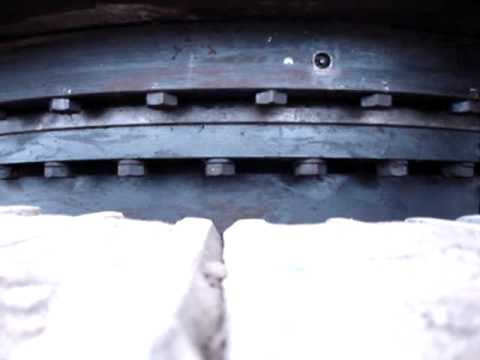 Worn Excavator Swing Bearing Youtube