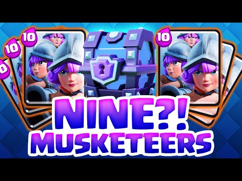 Clash Royale - The NINE Musketeers!? - CRAZY 30 Elixir Move!