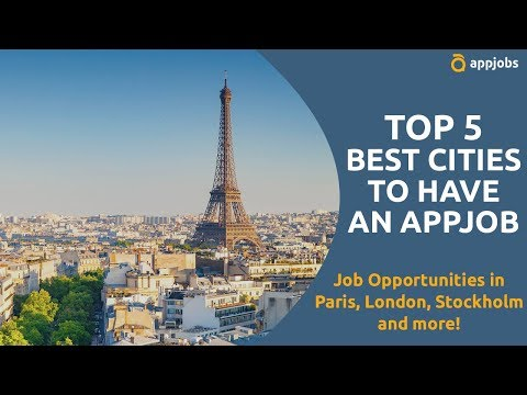 Top 5 cities to work online with AppJobs   AppJobs.com