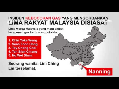Nanning Officials Investigating Death of 5 Malaysians in Gas Leak Incident