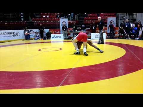 2016 Canadian Junior Championships: 74 kg Alex Moore vs. Raheem Rahamatulla