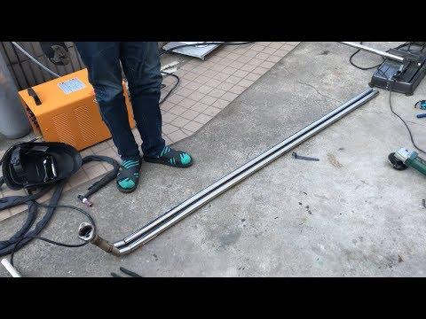【作業員HのアルトDIY】男のフルデュアルマフラー製作