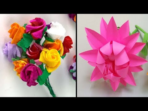 Paper Flower Making | Paper cutting crafts | DIY | Do it Yourself