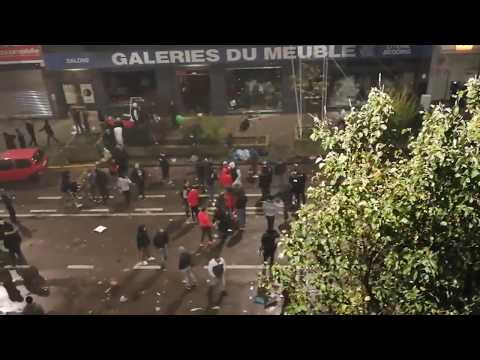 Moroccan immigrants in Brussels in riot freely without polic