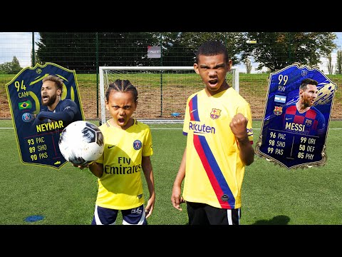 Messi vs Neymar Top Wages Football Challenge!!!