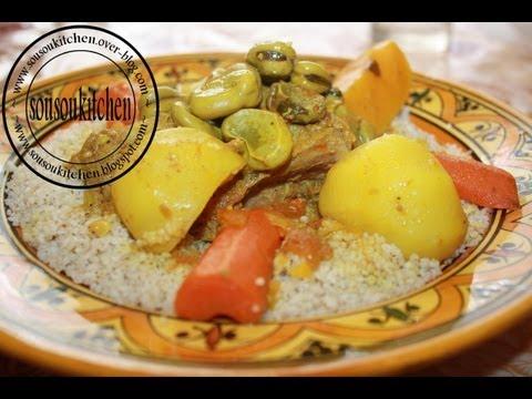 recette-couscous-à-l'orge-كسكسو-بلبولة--barley-couscous