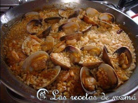 Receta de arroz con gambas y almejas