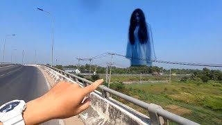 LHT | Đi Quay Vlogs Gặp Bóng Ma Màu Đen Ở Dưới Ruộng Bay Lên Ngay Chân Cầu Vượt Số 10 Cao Tốc