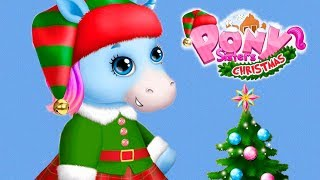 Fun Pony Animal Care - Pony Sisters Christmas Dress Up, Cooking Games for kids