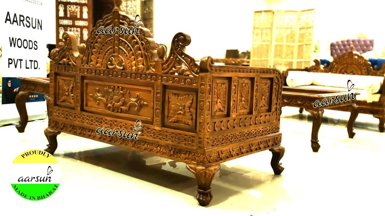 #277 Rajwada Sofa set | Rajasthani Wooden Furniture | @Aarsun - Art of India
