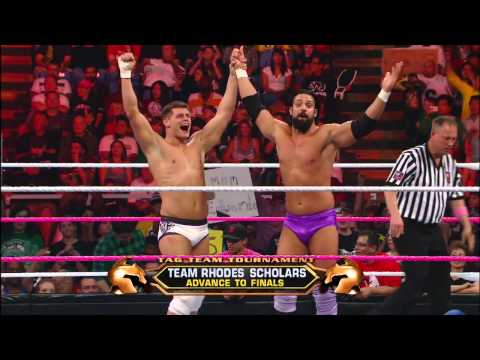 Zack Ryder & Santino Marella vs. Team Rhodes Scholars - WWE Tag Team Title No. 1 Contenders' Tournam