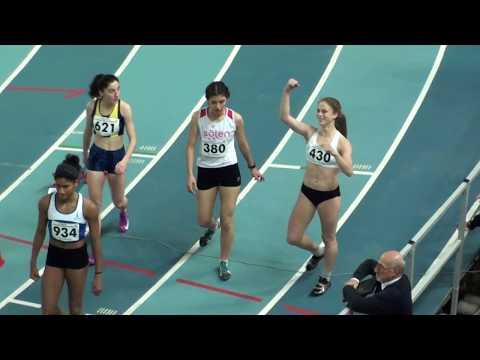 İstanbul U18 Türkiye Salon Şampiyona sı 200 metre kız lar Final