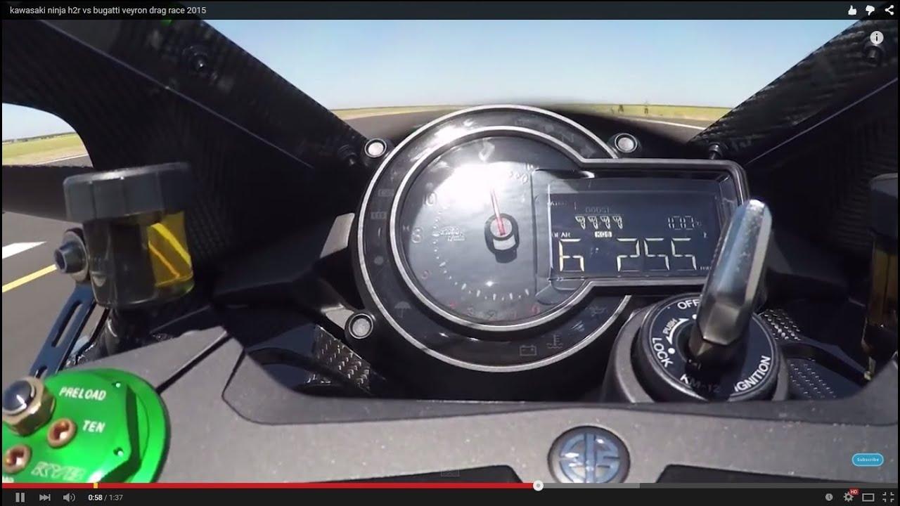 Kawasaki ninja h2r top speed