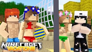 LITTLE CARLY AND LITTLE KELLY'S DOUBLE DATE VACATION!! w/Raven and Leo (Minecraft Roleplay)