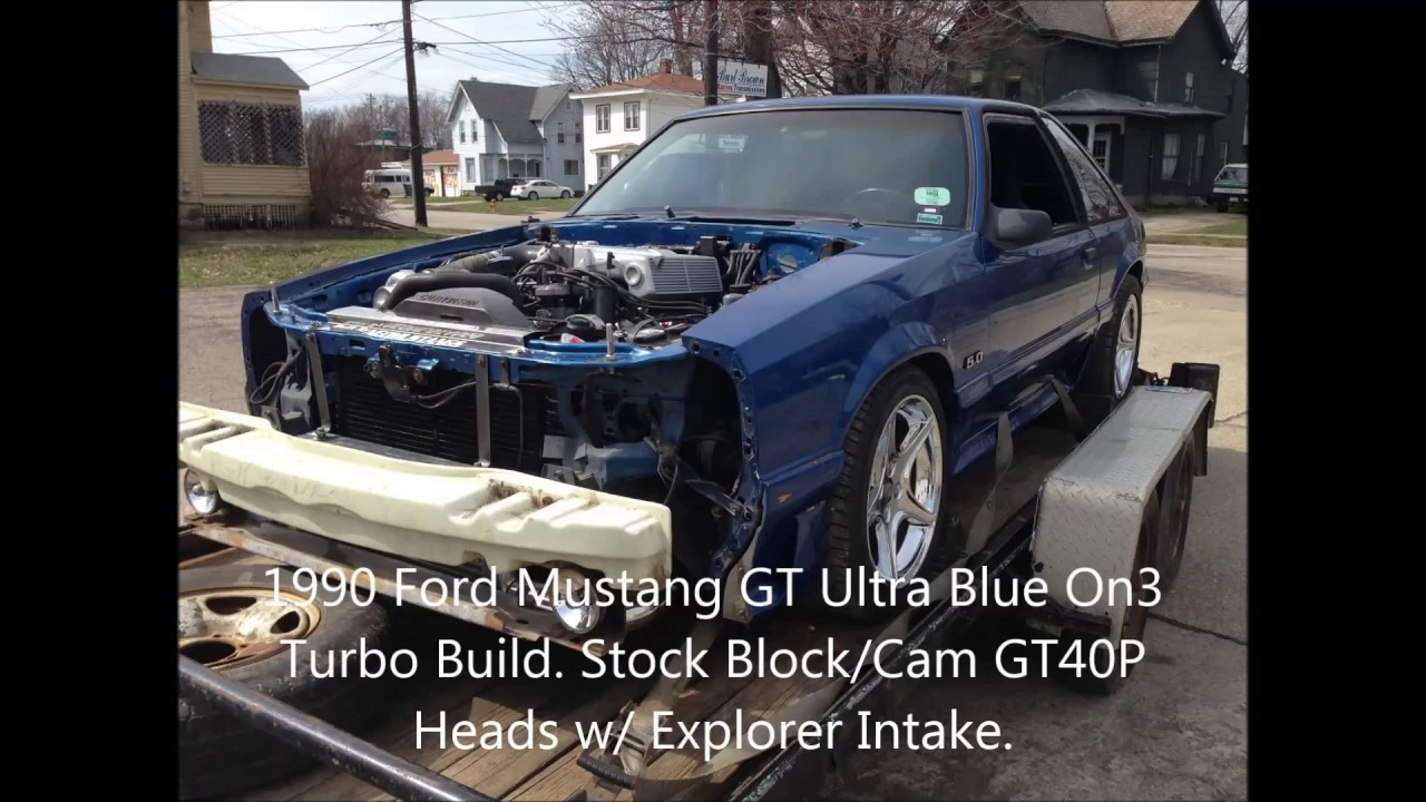 1990 Ford Mustang Gt Ultra Blue On3 Turbo Dyno Run 498hp 535tq Youtube