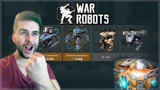 SPENDING 3,500+ KEYS ON CHEST! BLACK MARKET GOLD CHEST OPENING! | War Robots