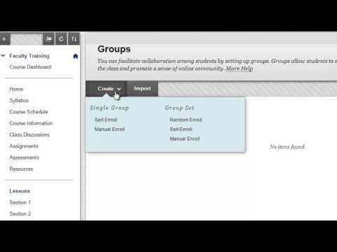 Creating Groups in Blackboard Learn - Part 1