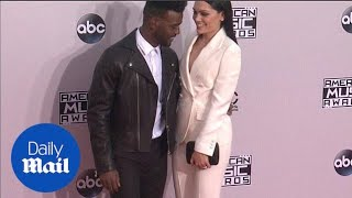 Jessie J and Luke James looked very happy at the AMAs - Daily Mail