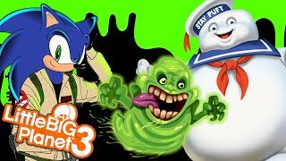 SONIC JOINS THE GHOSTBUSTERS | LittleBIGPlanet 3 Gameplay (Playstation 4) LBP 3