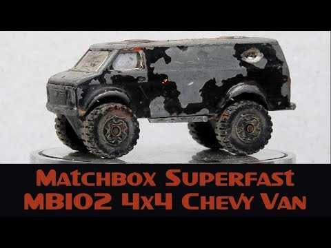 Matchbox Custom Restoration Superfast MB102 4x4 Chevy Van 'Custom Van' Build Off