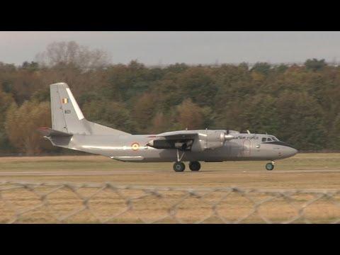 Romanian Air Force Antonov AN-26 at Hannover Airport