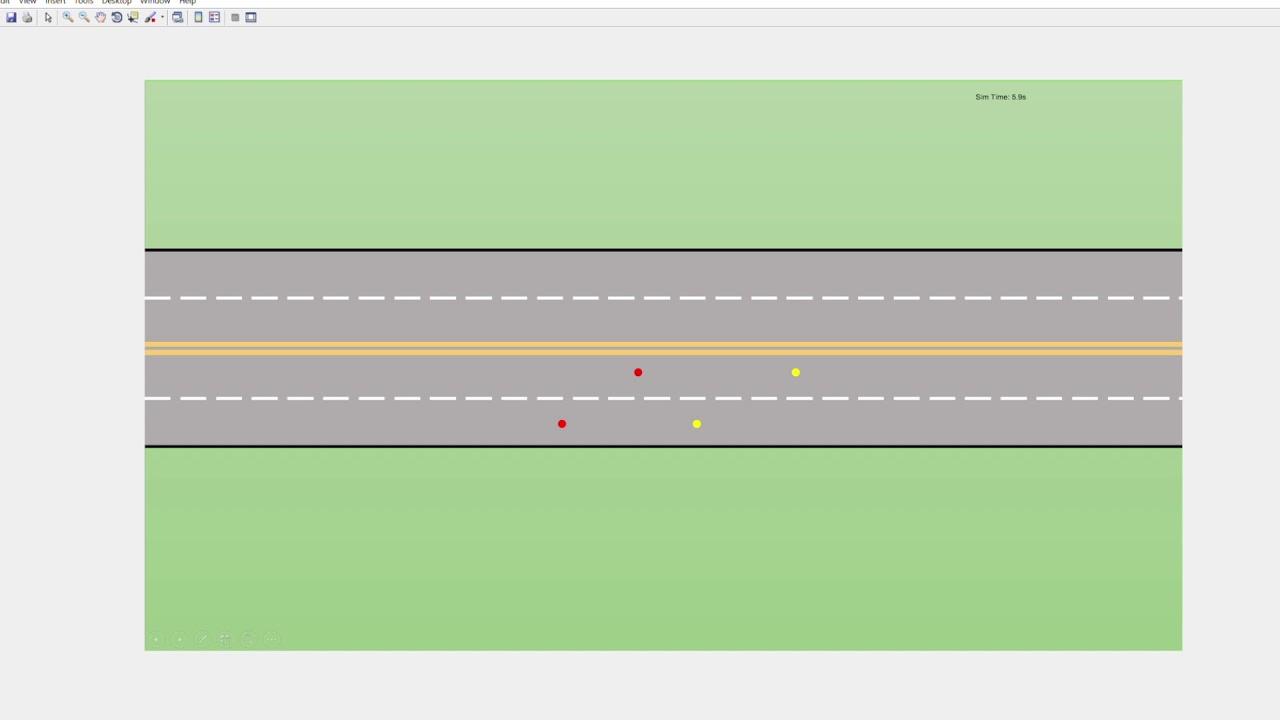 Lane Changing Simulation using VANET Toolbox in MATLAB