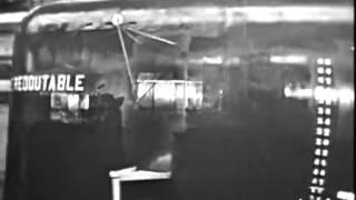 Le lancement du Redoutable à Cherbourg-1967