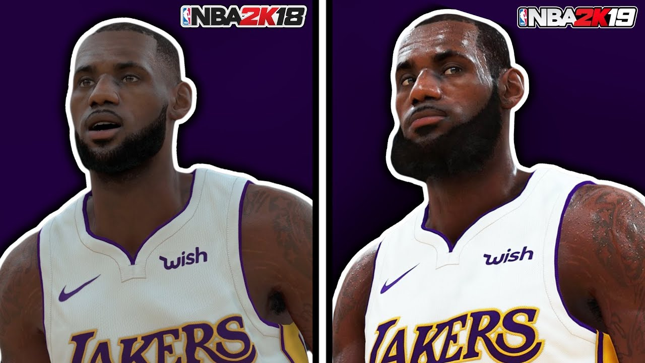 NBA 2K19 vs NBA 2K18 Graphics Comparison LEBRON JAMES Lakers
