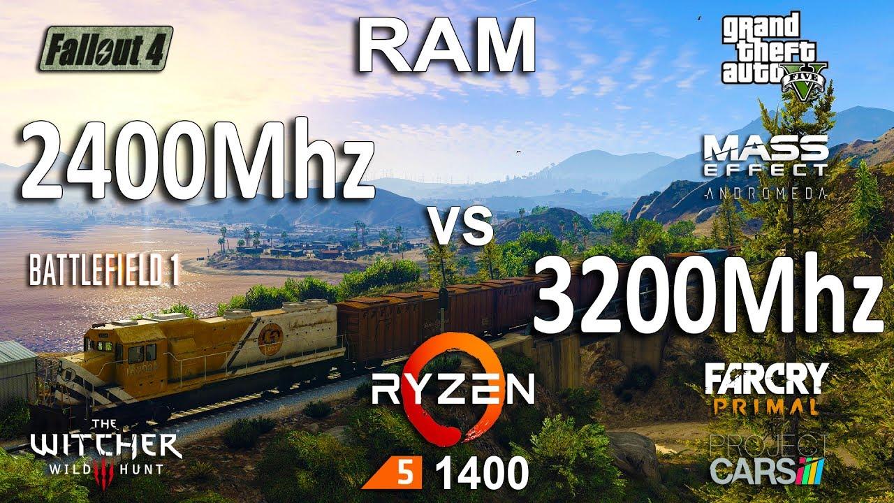 2400Mhz vs 3200Mhz RAM Test in 7 Games (Ryzen 1400)