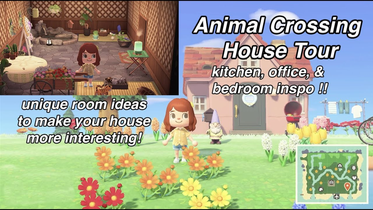 Animal Crossing House Tour Cute Unique Room Ideas Plus Kitchen Bedroom And Office Inspo Youtube