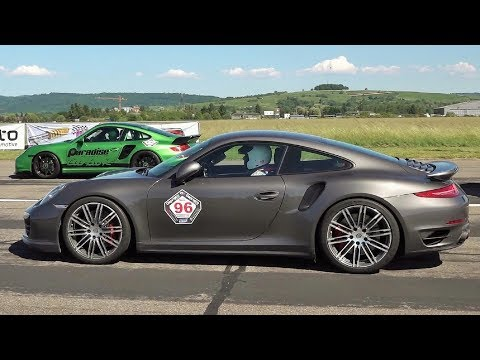 Porsche 911 9ff Turbo 1100 HP - Roll Race, Revs and Engine Sound