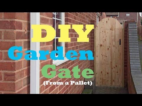 DIY Garden gate (from a pallet)