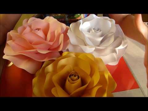 ROSAS DE PAPEL PARA LA PARED / LUZKAS CREATIONS