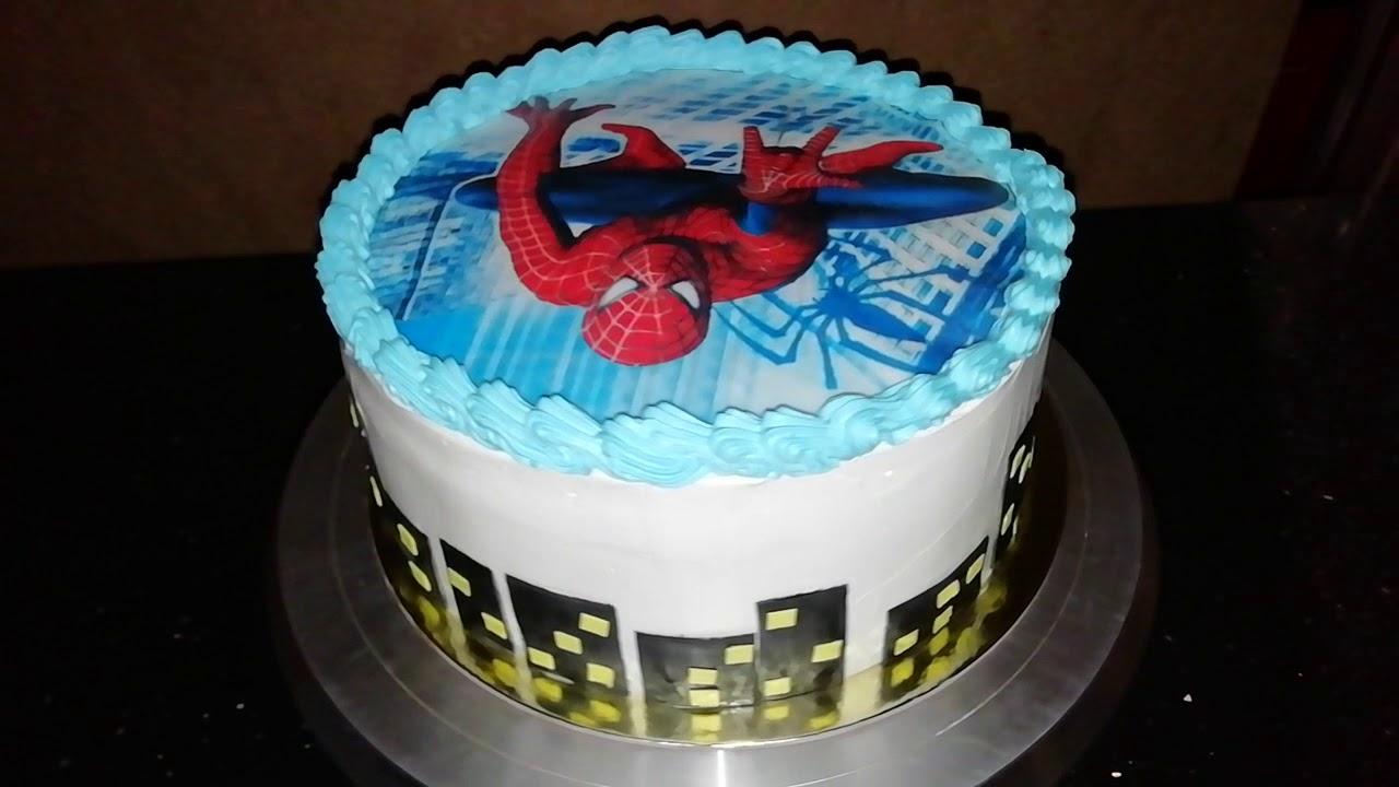 торт с сахарной картинкой человек паук фото может, сделать