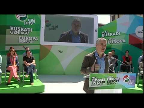 "Iñigo Urkullu en Durango, ""Si quieren callarnos, nos van a oír""."