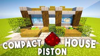 9x9 Redstone Piston House  (Compact & Complex) - Minecraft