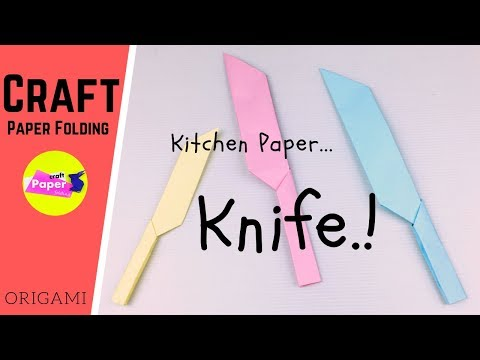 How to Make a Paper Knife -  Easy Craft Ideas for Kids with Paper