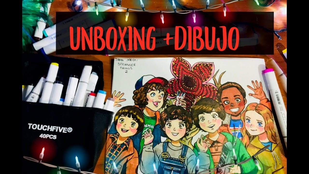 Unboxing Dibujo I Stranger Things 2 I Tomtop I Touchnew Markers